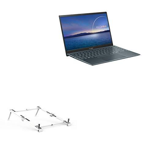 Suporte e suporte BoxWave para ASUS ZenBook 14 UM425UA [suporte de alumínio de bolso 3 em 1] Portátil, suporte de visualização em vários ângulos para ASUS ZenBook 14 UM425UA - Prata metálica