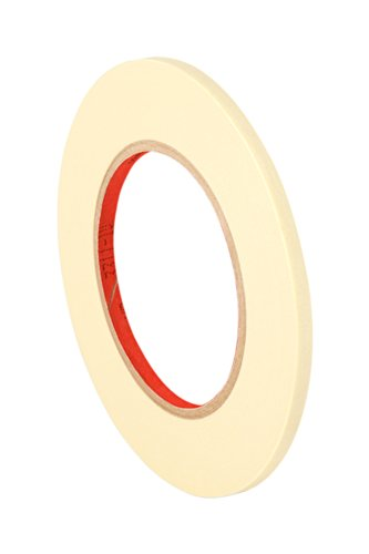 3M General Purpose Masking Tape 203, 0.2500' Width x 55m Length (Pack of 8), Tan