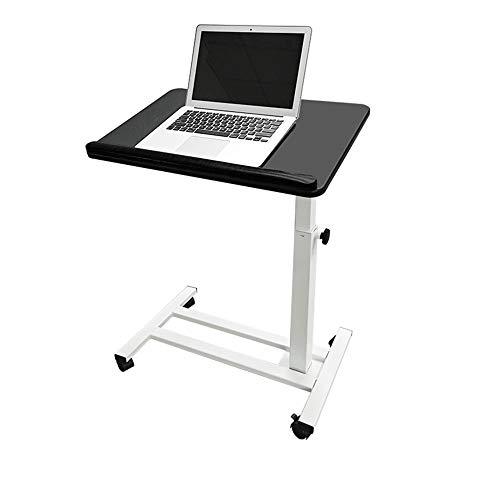 Honglimeiwujindian Computer Desk Multifunctional Sofa Bed Side Table Movable Lifting Computer Desk Laptop Desk Home Bed Study Desk PC Laptop on Wheels (Color : Black, Size : 59-86x60x40cm)