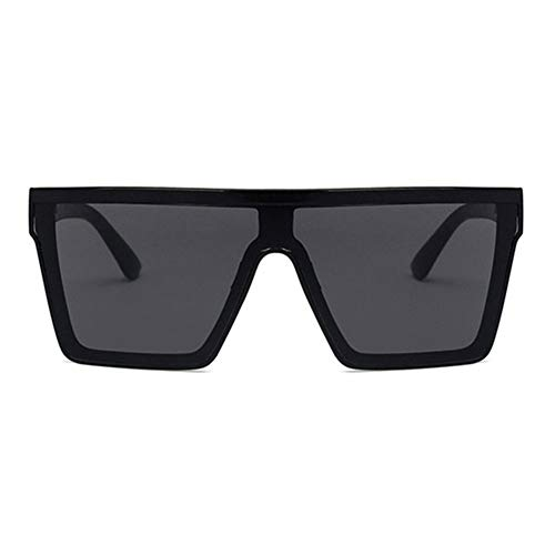 N\A Gafas de Sol de Moda Mujer/Hombres Retro Gafas de Sol clásicas Gafas de Sol cuadradas Vendimia de la Mujer Gafas de Sol de Gran tamaño Siameses (Lenses Color : Black Gray)