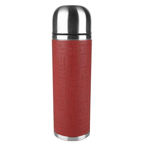 Emsa Senator Sleeve 515715 Termo con Taza Integrada, 1 L, Acero Inoxid