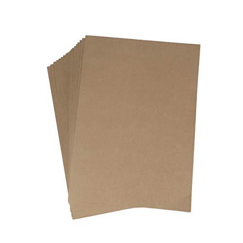 TOYMYTOY Kraft Cartellina Portadocumenti A4 Cartelline Portablocchi File Folder,Lembi in Cartoncino,20 Pezzi,Marrone