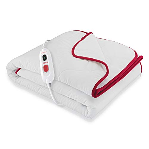 Daga Flexy-Heat CIN Comfort - Calientacamas Eléctrico, 150 x 90cm, Conexión Separable, 3 Niveles de Temperatura, Acabado Textil Acolchado, Autostop de Seguridad, Calentamiento Rápido