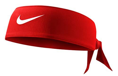 Nike Unisex Dri-fit Stirnband, Unisex, Stirnband, N.000.3706.608.OS, Rot/Weiß, Einheitsgröße