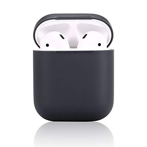 Airpods Schutzhülle Airpods Case Airpods Hülle,Teyomi airpods schutzhülle Silikonhülle Abdeckung Haut Mit Sport Strap für Apple AirPods Ladekoffer (Black)