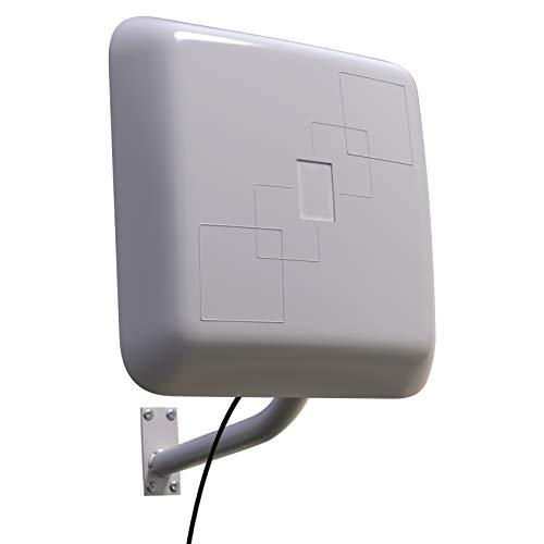 Xoro Han 2307 WLAN Antenne für Außen und Innen Bereich Dualband 2,4 GHz und 5GHz Gewinn: 15/12 dBi - Outdoor WiFi/W-LAN Außenantenne wetterfest mit 5m Kabel und SMA Anschluss