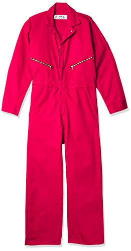 Red Kap mens Zip-front Cotton Coverall ,Red ,44 Long