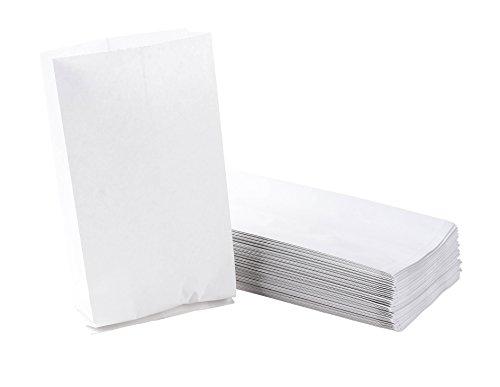 100-Pack Vomit Bags - Plain White Sanitary Puke Bag, Air Sick, Motion or Morning Sickness Barf Bag, Sealed Top Waste Disposal Bag, No Print, 5 x 10 Inches