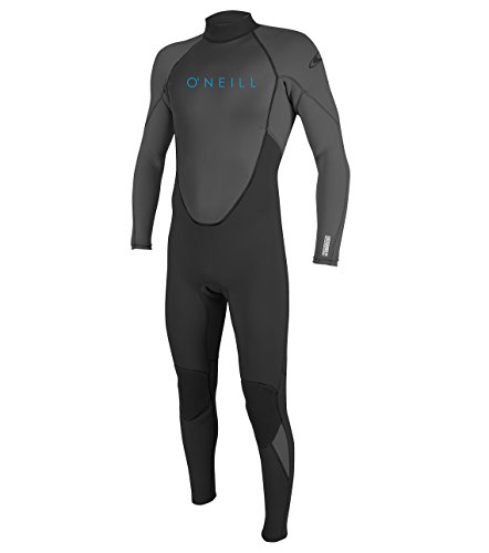 O'Neill Youth Reactor-2 3/2mm Back Zip Full Wetsuit, Black/Graphite, 14