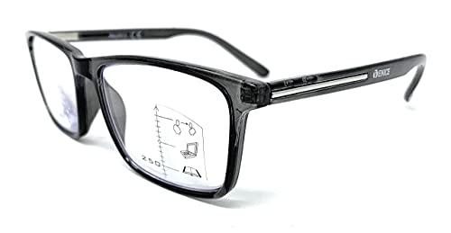 VENICE EYEWEAR OCCHIALI | Gafas de lectura multifocales progresivas, presbicia, vista cansada, Progresivo. Diseño en 5 Colores. VENICE MULTIFOCUS - Dioptrías: 1 a 3,5 (Gris, +3,00)