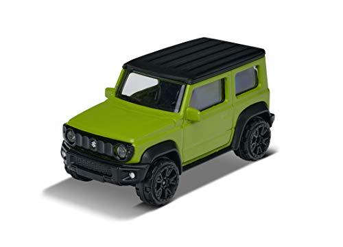 Majorette 212053051Q04 Street Cars Suzuki Jimny Coche de Juguete, Rueda Libre, suspensión, 1:64, 7,5 cm, Color Verde