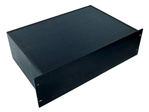 NW Powersolutions 19Z-3HE 3 HE Gehäuse - Komplett aus Aluminium - schwarz eloxiert - Für Rack Einbau geeignet 19