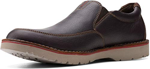 Clarks Men's Vargo Step Loafer, Brown Tumbled Leather,11 M US