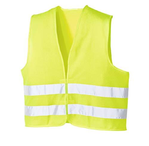Feldtmann 20-004205 Workwear Warnweste EN471 Polyester Warnschutzweste mit Reflexstreifen, gelb