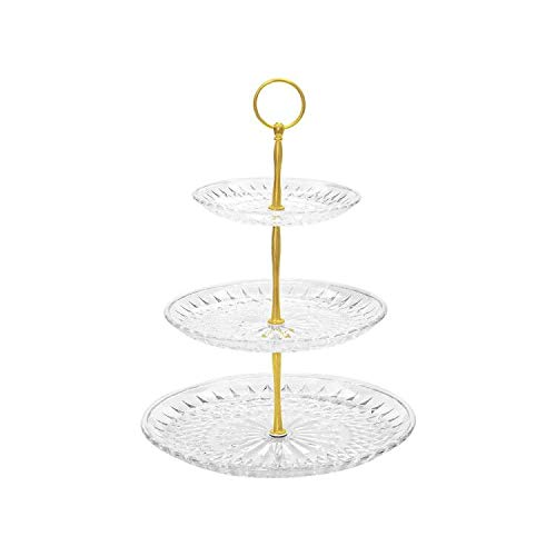 Artliving Acrylic Clear 3-tier Cupcake Stand Cake Stand dessert stands Plate Tea Party Serving Platter display tower
