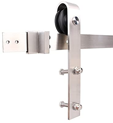 TMS 6 Foot Stainless Steel Country Sliding Barn Wooden Door Hardware Track Set