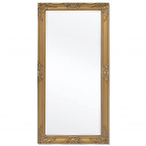 specchio da parete 60x120 MUSEVANE Specchio da Parete Stile Barocco 120x60 cm Dorato