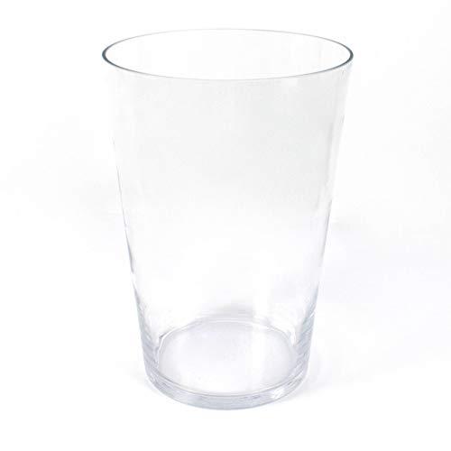 INNA-Glas Jarrón Grande con Forma cónica Sally XXL de Cristal, Transparente, 40cm,...
