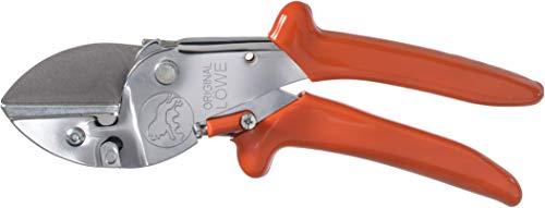 Original LÖWE 1 Profi Amboss Gartenschere 1.107 mit ergonomischer Griffform - robuste und scharfe Schere aus rostfreiem Stahl eignet sich ideal für Holzarten wie Eiche Buche Esche