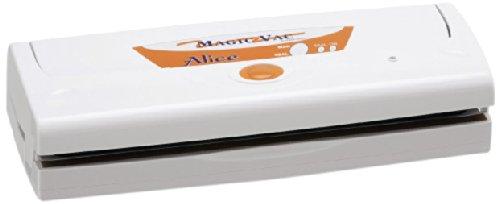 Magic Vac Alice - Envasadora al vacío (380 x 140 x 90 mm, 2,3 kg, 230V, 50 Hz, Color blanco)