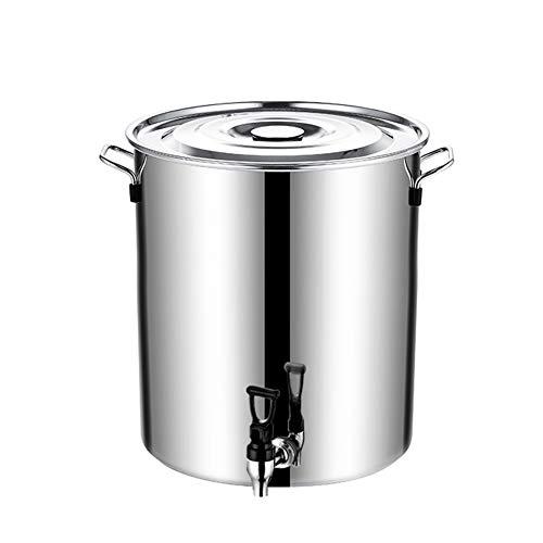 MNSSRN Cubo de Acero Inoxidable con Grifo, balde de Beber con Tapa, Cubo de Leche, Cubo Sellado de Gran Capacidad, Tanque de Almacenamiento Grueso y Duradero,10L