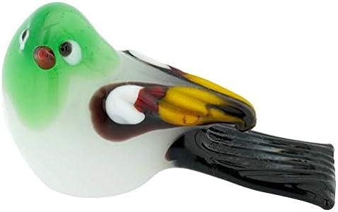 Murano Glass - Pájaro para bebé, color verde