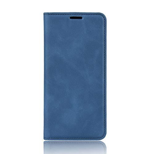 Passend für Huawei P40 Pro Hülle, hat Magnet-Adsorption-Fähigkeit Premium PU Leder Handyhülle. Blau