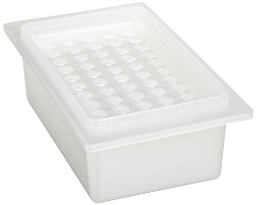 Bel-Art F18905-0001 Microcentrifuge Tube Ice Rack/Tray; 1.5ml, 50 Places, 9⅛ x 5¼ x 2⅞ in., Polypropylene