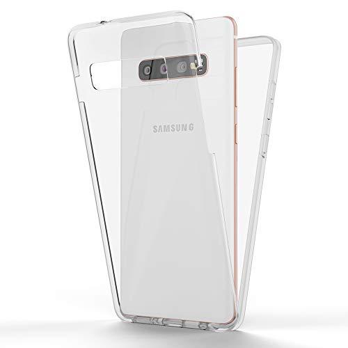 NALIA 360 Grad Handyhülle kompatibel mit Samsung Galaxy S10 Hülle, Full-Cover Silikon Bumper Bildschirmschutz vorne Hardcase hinten, R&um Doppel-Schutz, Dünn Ganzkörper Hülle
