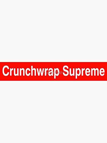 Crunchwrap Supreme Sticker - Sticker Graphic - Auto, Wall, Laptop, Cell, Truck Sticker for Windows, Cars, Trucks