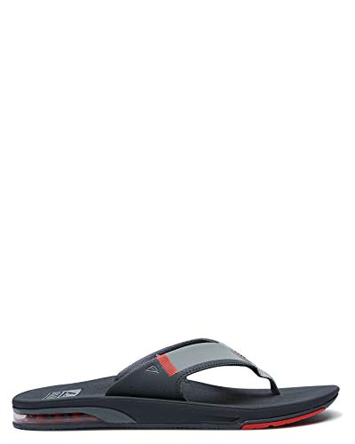 Reef Herren FANNING LOW Flipflop, Grey/RED, 37.5 EU