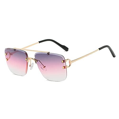 LUOXUEFEI Gafas De Sol Gafas De Sol Masculinas Sin Montura, Accesorios Para Gafas Para Mujer, Azul, Verde, Marrón