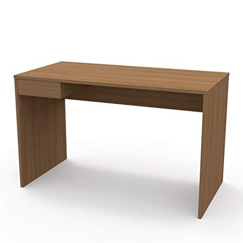 LEVIRA – Mesa de Oficina, Escritorio, Mesa de Estudio, Hessel - 120 x 74 - Cerezo Choco