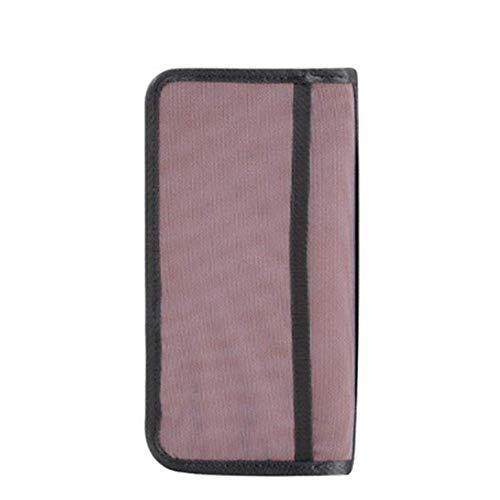 EgBert Honana Hn-Pb6 Oxford Reisepasshülle 6 Farben Reisebrieftasche Kreditkartenticket Organizer - Pink