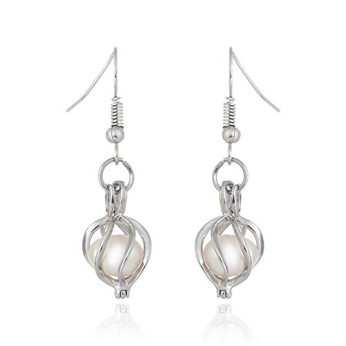 N-B Natural Oyster Pearl Earrings Pendant Jewelry