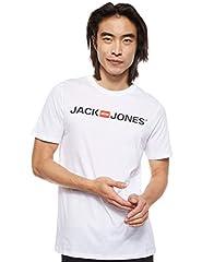 JACK & JONES Camiseta para Hombre Cuello Redondo Logo tee