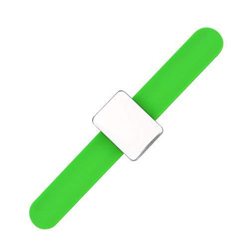 ZEXIN Brazo, manualidades, costura, correa magnética, para muñeca, para maquillaje, accesorios de costura, soporte para agujas (verde)