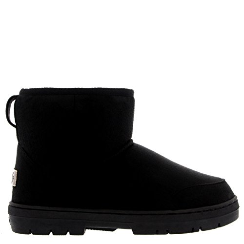 Damen Schuhe Classic Mini Fell Schnee Regen Stiefel Winter Fur Boots - Schwarz - 39 - AEA0215