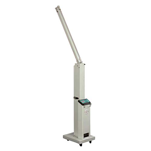 Large Area UV Light Sanitizer - Professional Grade Rolling UV-C Lamp for Commercial Use - With Locking Wheels, Timer, & 2 x 55W Bulbs - EPA Registered, Lab Certified 99.9% Germ Kill in 30 Mins - White
