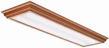 Lithonia Lighting FMFL 30840 CAML OA 4-Foot LED Cambridge Linear Flush Mount 2800 Lumens 120 Volts 35 Watts Damp Listed Oak