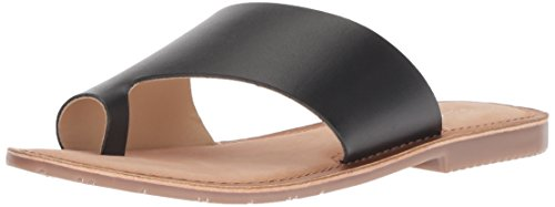 Chinese Laundry Women's Gemmy Slide Sandal, Black Leather, 7 M US