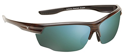 Callaway  Sungear Kite Golf Sunglasses - Tortoise Plastic Frame, Gray Lens w/Green Mirror
