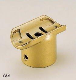 シロクマ 手すり金具 E形直受けチーズー35丸用 ゴールド BR-165