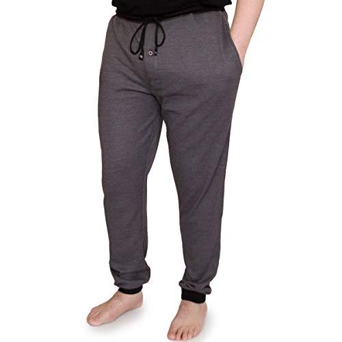Ecko Unltd Mens Waffle Knit Jogger Pants Athletic Pants for Men Comfortable Athletic Wear Joggers for Men Charcoal