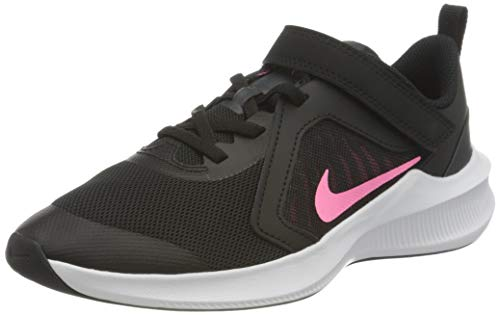 Nike unisex child Downshifter 10 (Psv) Running Shoe, Black Pink Glow Anthracite White, 28 EU