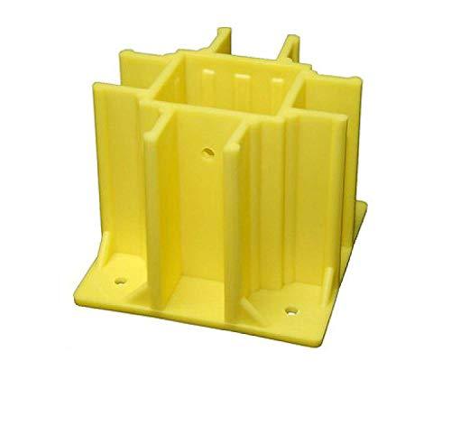 Safety Boot SB024-B Yellow OSHA Compliant Guardrail Base w/Toeboard Slots (24 Ct.)