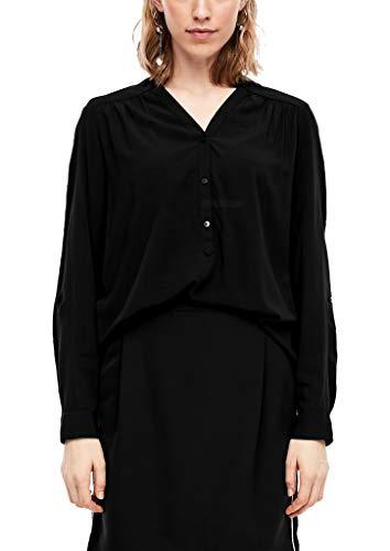 s.Oliver Damen 14.001.11.2970 Bluse, Black, (Herstellergröße: 42)