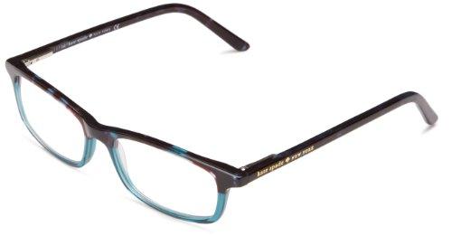 Kate Spade New York Women's Jodie Rectangular Reading Glasses, Sky Blue Tortoise, 50 mm, +2.00