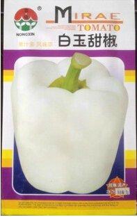 1 Original Pack, Environ 200 graines / paquet, Graines blanc poivron doux, organique non-Gmo Heirloom Légumes # NF507