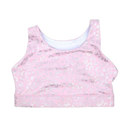 WodBottom Sports Bra (Baby Pink Leopard, Small)
